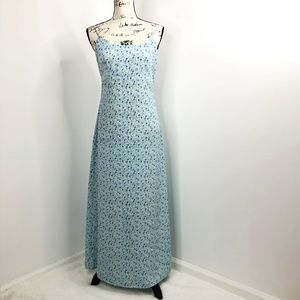 Vintage Genevieve Light Blue Floral Dress Small